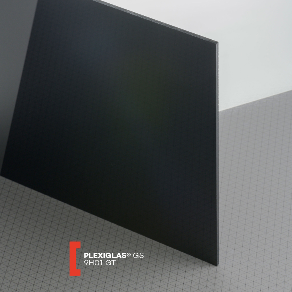 PLEXI GS 5MM SOLID BLACK GLOSS 9H01 600X600MM