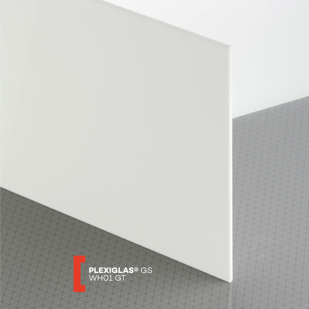 PLEXI GS 3MM SOLID WHITE GLOSS WH01 1000X700MM