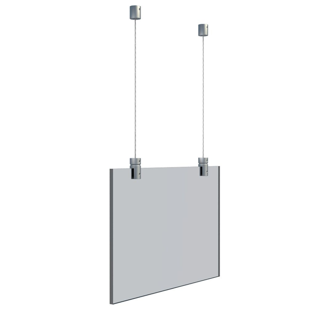 HANGING KIT FOR UP TO 6MM PANEL  (W)