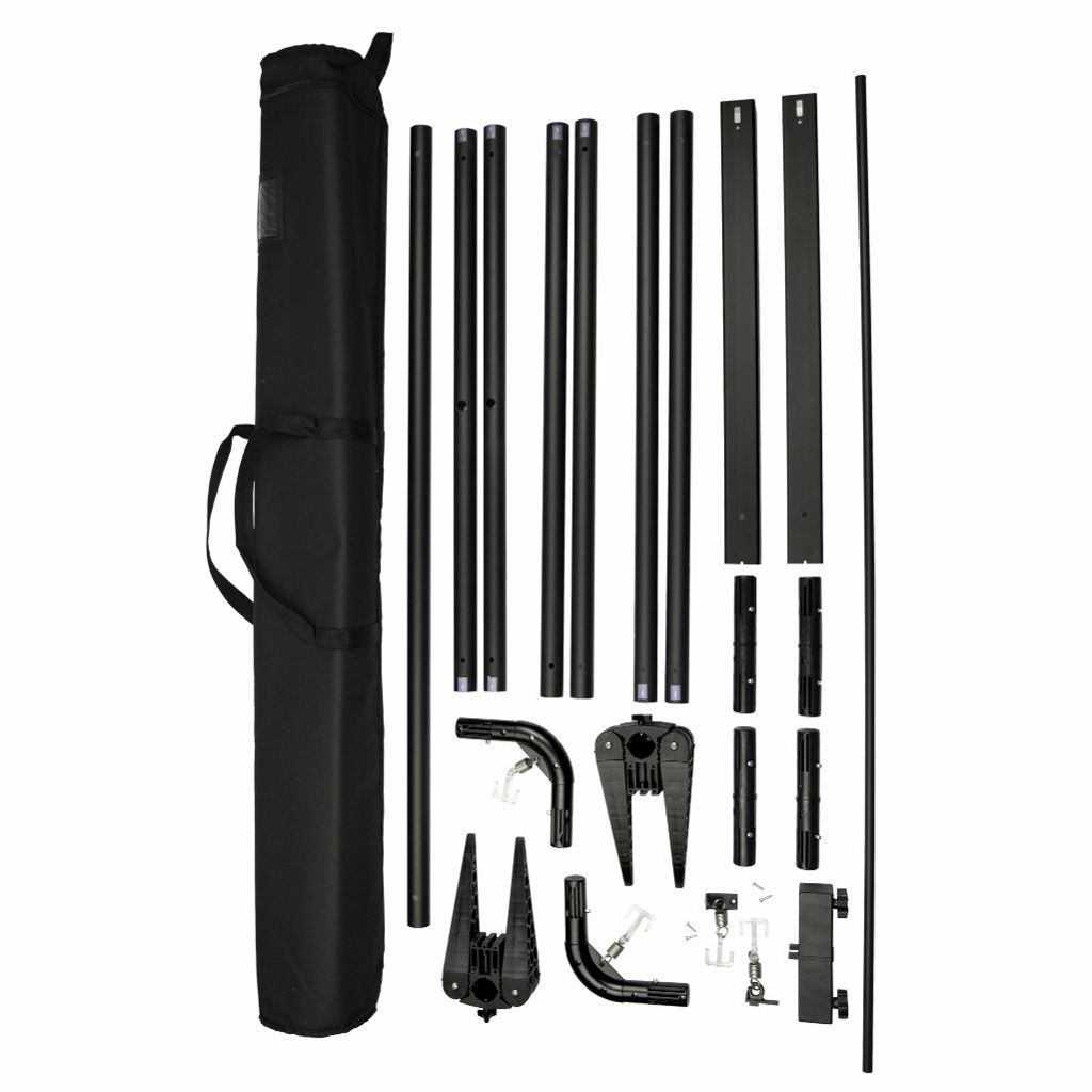DISPLAY BANNER STAND GS912 STYLE - 1200 X 2300 (BLACK)