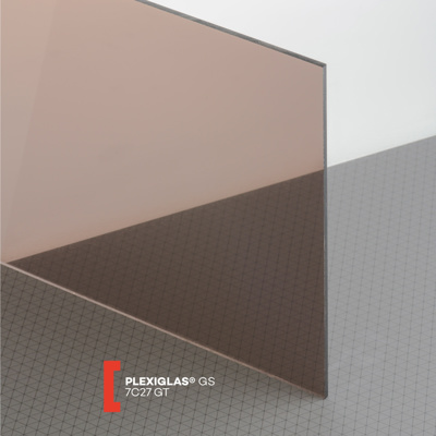 PLEXI GS 3MM TRANSPARENT BRONZE 7C27 600X600MM