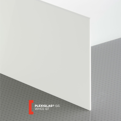 PLEXI GS 3MM SOLID WHITE GLOSS WH01 600X600MM